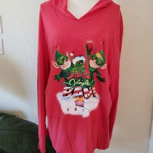 Disney Parks Jingle Bell Hollywood Long Sleeve Top